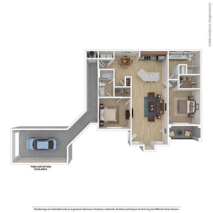 Sleek Appliance Garage: Floor Plans Of Lenexa Apartments