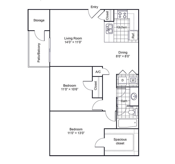Apartments in NRH | 8500 Harwood Floor Plans