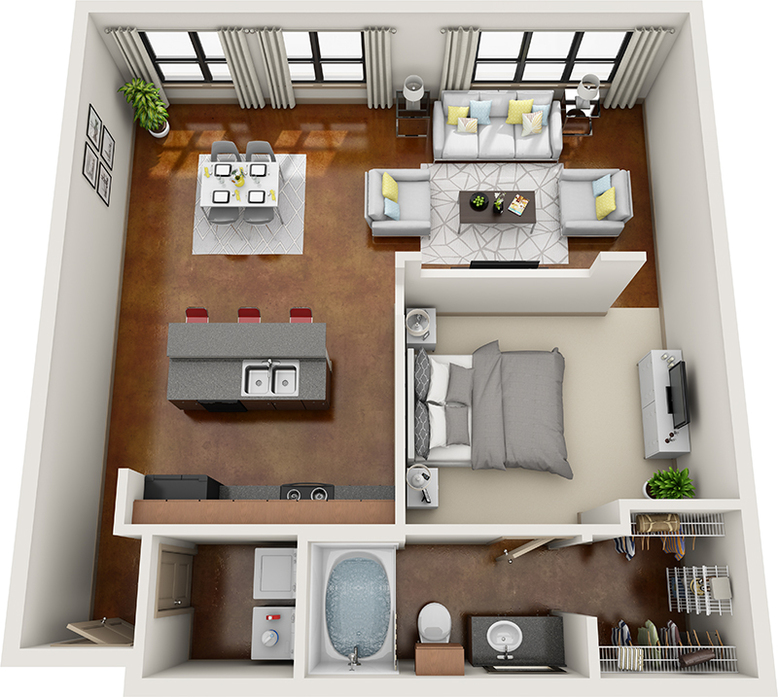 1 & 2 Bedroom Apartments Downtown Houston
