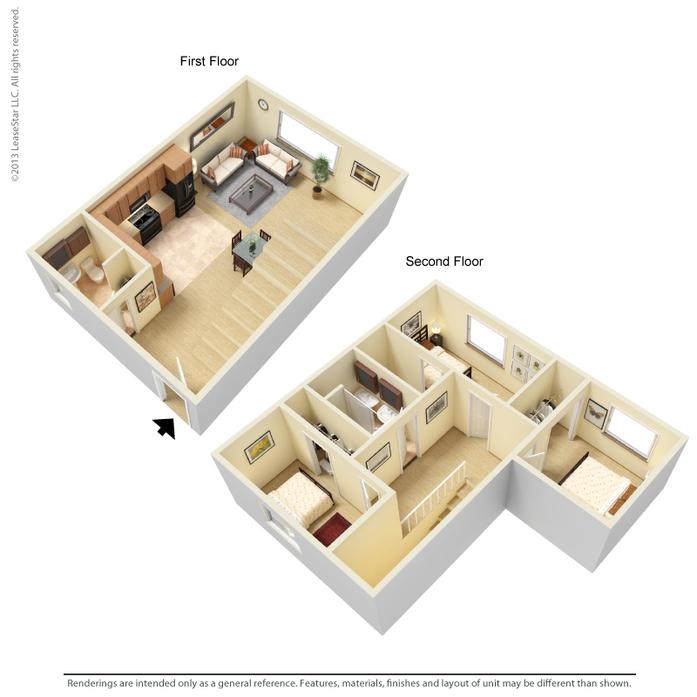 San Luis Obispo, CA Mustang Village Floor Plans