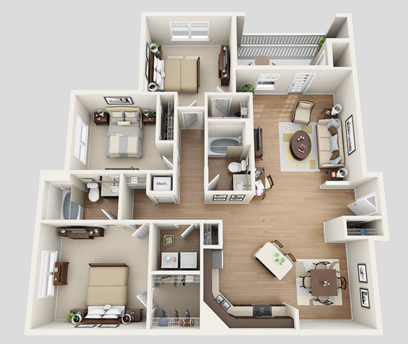 1-3 Bedroom Apartments In Maryville, TN