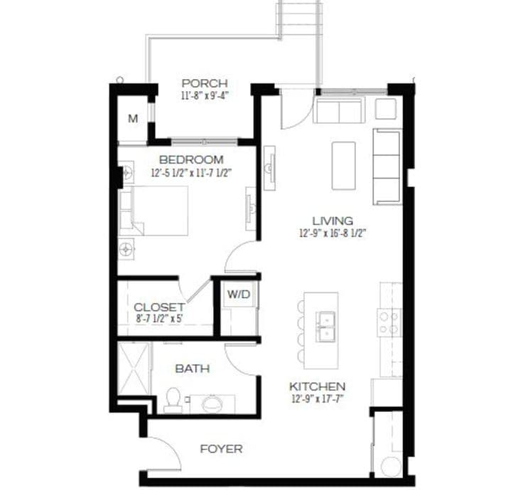 Studio Apartments Columbus Ohio: Studio Apartments, 1 & 2 Bedroom Floor Plan