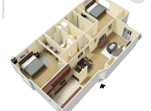 Floor Plans At Hidden Creek Grand Rapids Apartments