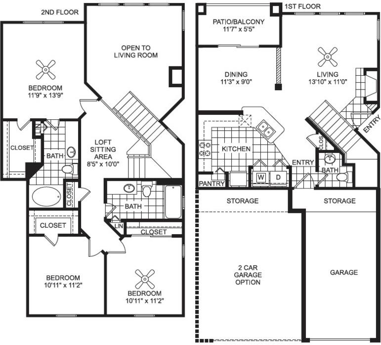Lewisville Tx Villas Of Vista Ridge Floor Plans