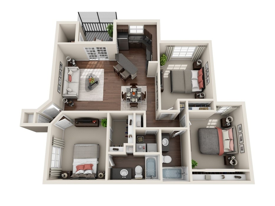 1 3 Bedroom Apartments Sanford Fl Stonebrook Floor Plans