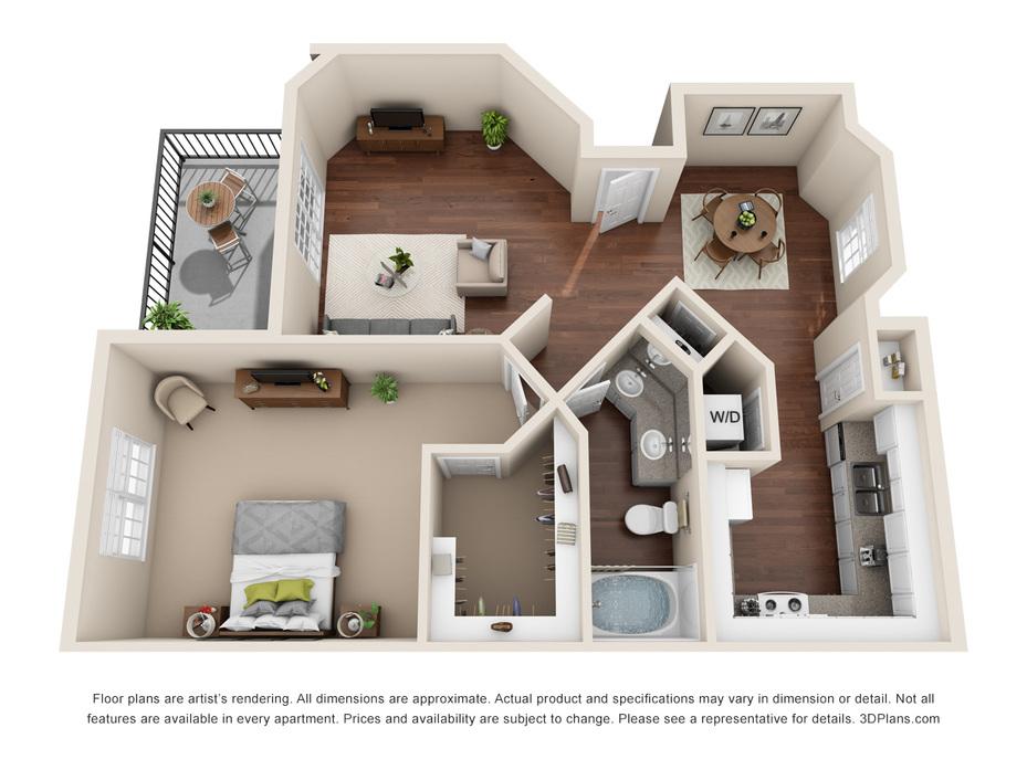 1-3 Bedroom Apartments Cedar Park, TX | Regal Parc Floor Plans