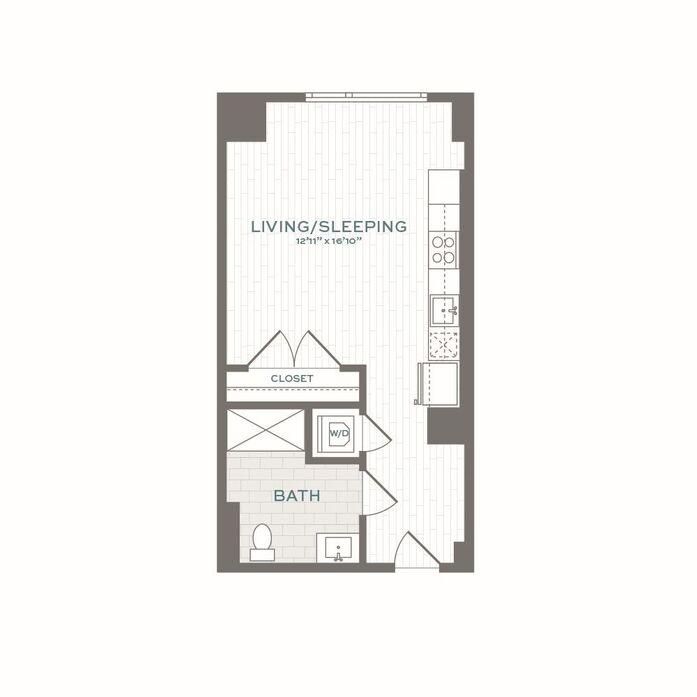 Studio, 1 Bath apartment in Boston, Brighton for $2,715