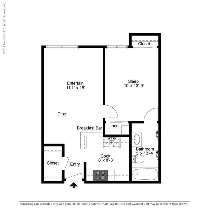 Floor Plans Of 1 And 2 Bedroom Apartments Santa Clara