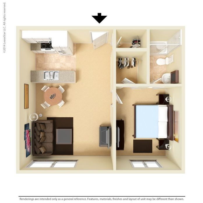 Floor Plans & Pricing For 1 Bedroom Apartments In Martinez