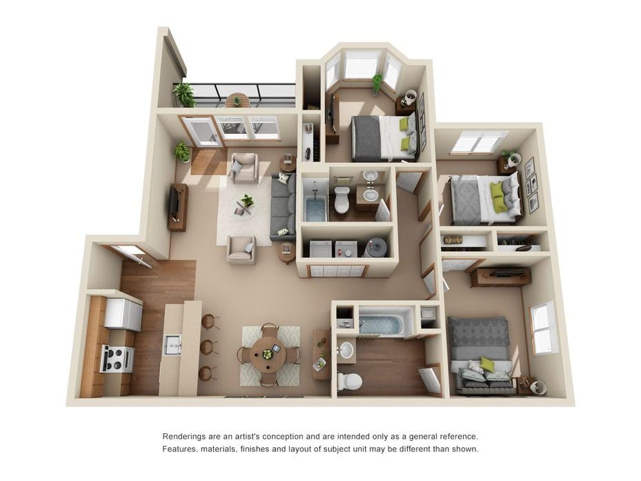 Apartments in Cheney, WA | Eagle Point Floor Plans