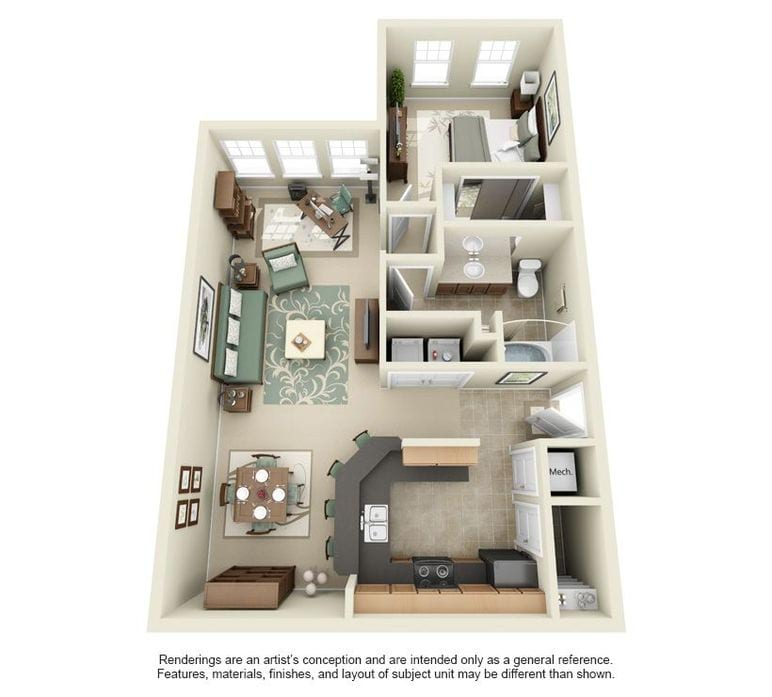 3 Bedroom Apartments In Lakeland Fl Arbor Glen Floor Plans