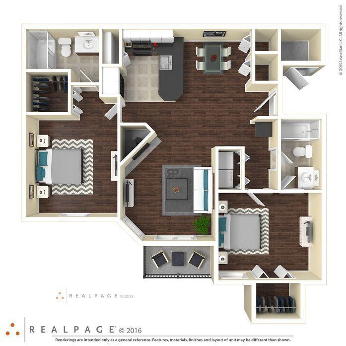 Wells Branch Apartments: Austin, TX Milan Floor Plans