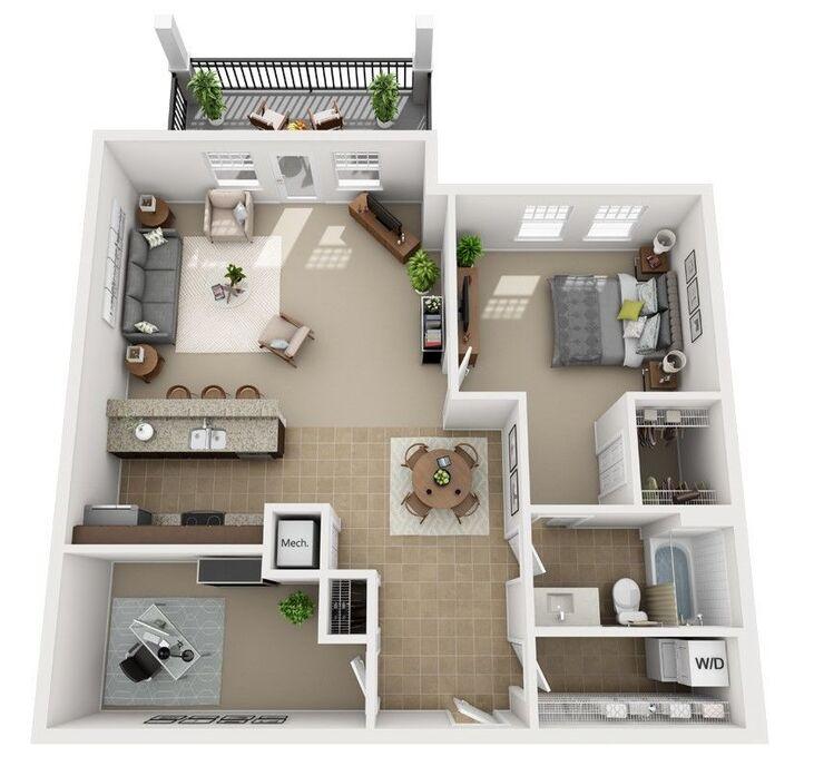 1-3 Bedroom Apartments | Urbana Luxury Floor Plans