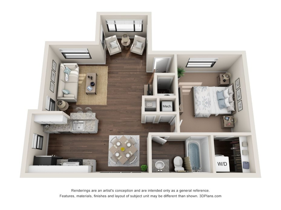 1 3 Bedroom Apartments Melbourne Waverly Place Floor Plans