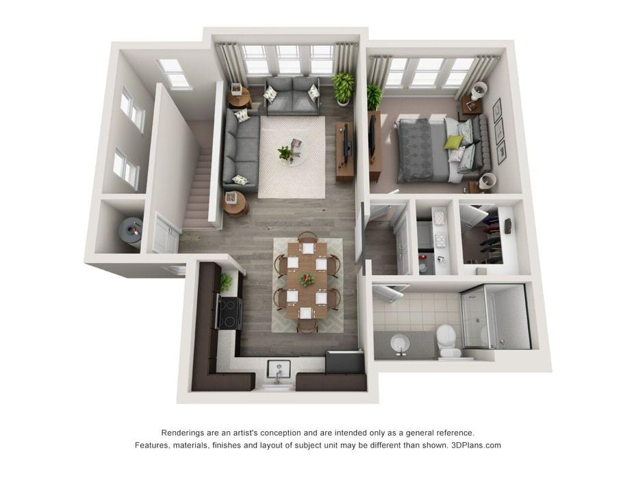 1-3 Bedroom Apartments 32828 | Hudson at East Floor Plans