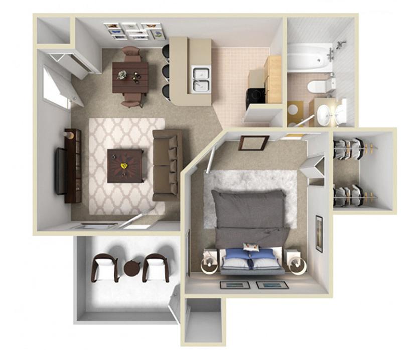 Grand Prairie, TX Canyon Grove Apartments Floor Plans