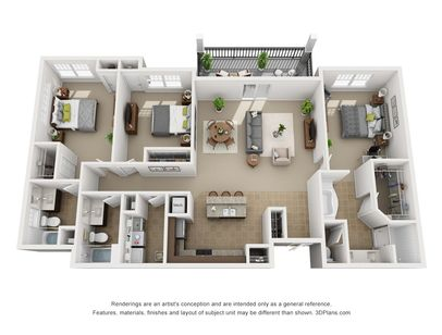 1-3 Bedroom Apartments | Urbana Luxury Floor Plans