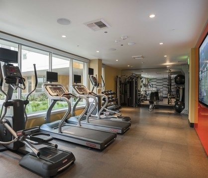 Fitness center at Seattle's Twenty20 Mad Apartments.