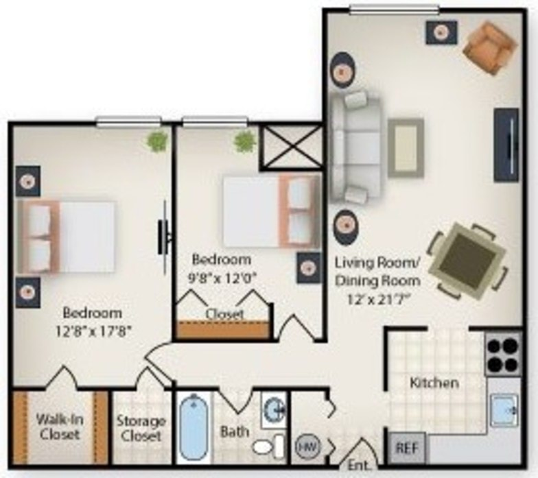 Waldorf, MD Wakefield Terrace Apartments Floor Plans