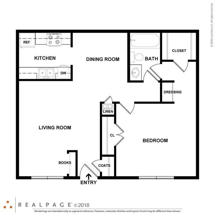 Shreveport, LA Castlewood Apartments Floor Plans