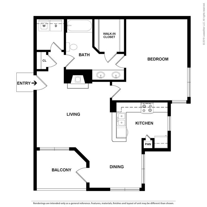 The Brazos Apartments: Dallas, TX The Brazos Floor Plans