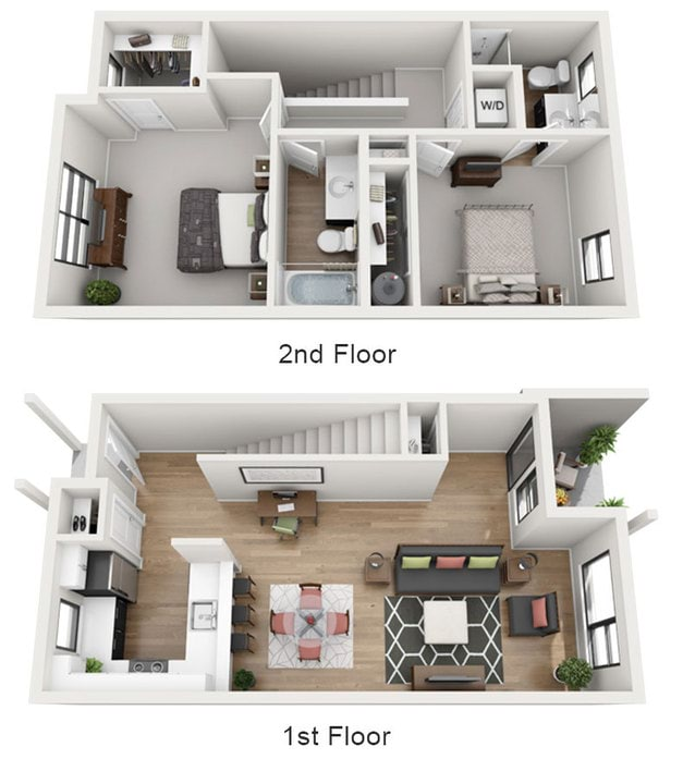 1 3 Bedroom Apartments Eugene The Tennyson At Crescent Village