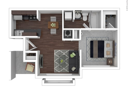 1-2 Bedroom Apartments in Charlotte, NC | Floor Plans