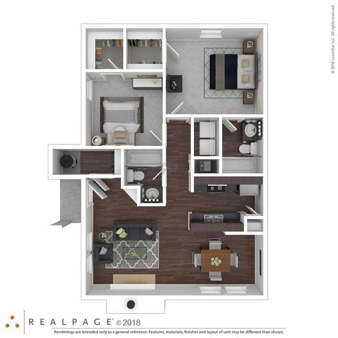2 Bedroom Apartments in Spring, TX | The Farrington Floor Plans