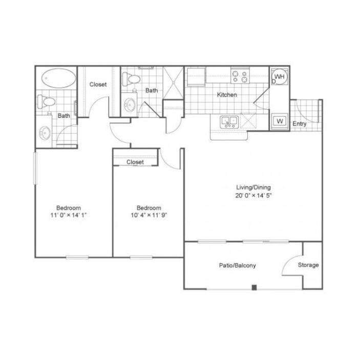 Lost Creek Apartments: Grand Prairie, TX Lost Creek Floor Plans