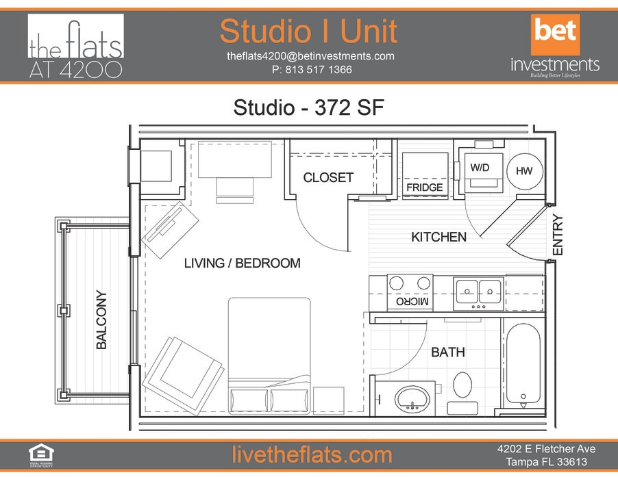 Tampa, FL The Flats at 4200 Floor Plans | Apartments in