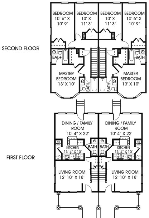 Broad Creek Apartments - Floor Plans