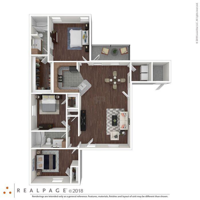 Bon Air Apartments: Monroe, LA Ouachita Square Floor Plans