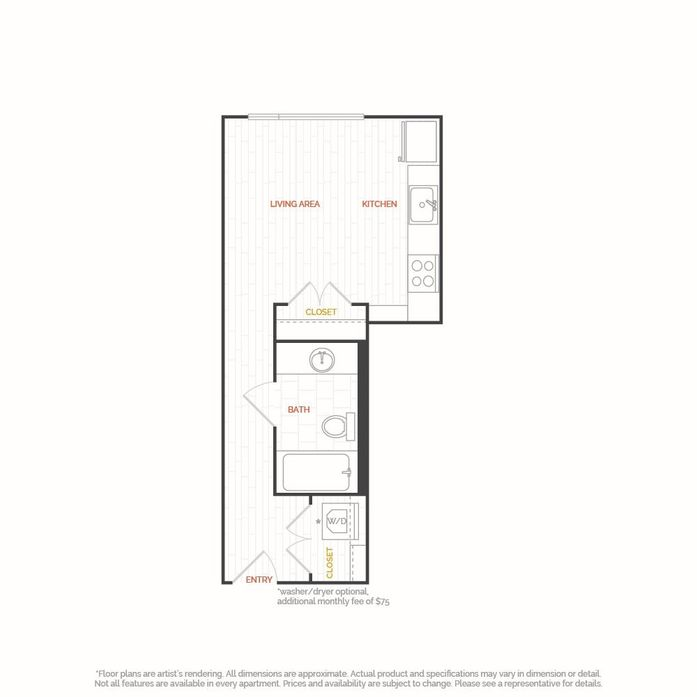 Studio, 1-2 Bedroom Apartments Seattle, WA | Floor Plans at Hana