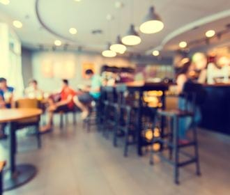 The Landings - stock photo of people seated in a café