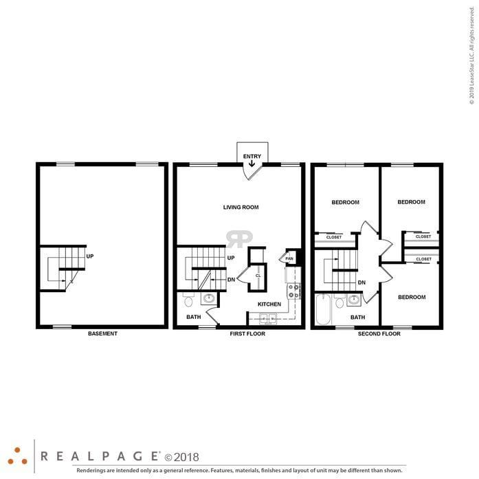 Saginaw, MI BRIDGTON PLACE TOWNHOMES Floor Plans