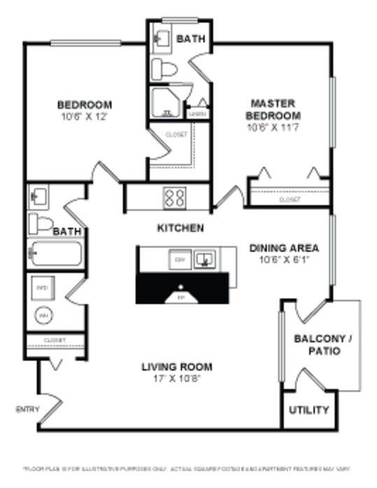 One Two Bedroom Apartments In Alexandria Va Layouts