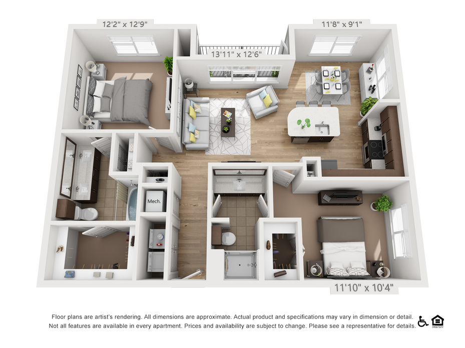 Studio-2 Bedroom Apartments Austin | Elan East Floor Plans