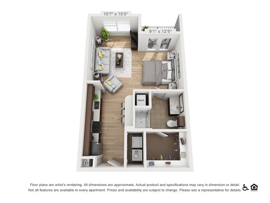 Studio-2 Bedroom Apartments Austin