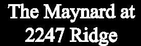 The Maynard at 2247 Ridge Avenue