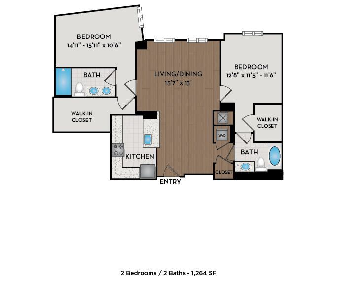Apartment 213 floorplan