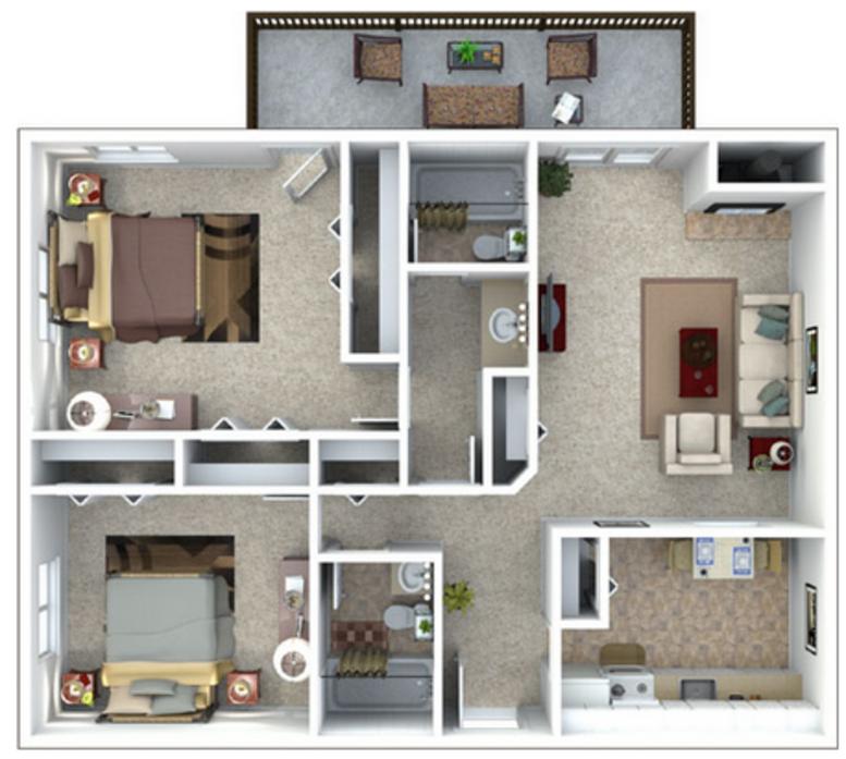 2 Bedroom Apartments Denver: Studio, 1-2 Bedroom Apartments Denver