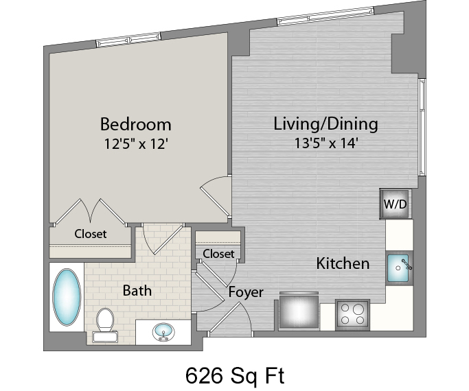 Apartment 434 floorplan