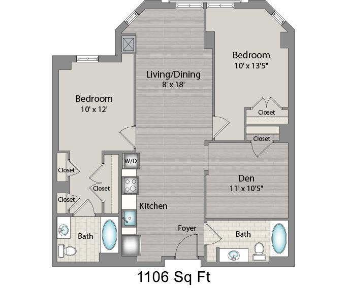 Apartment 527 floorplan