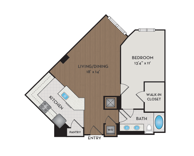 Apartment 420 floorplan