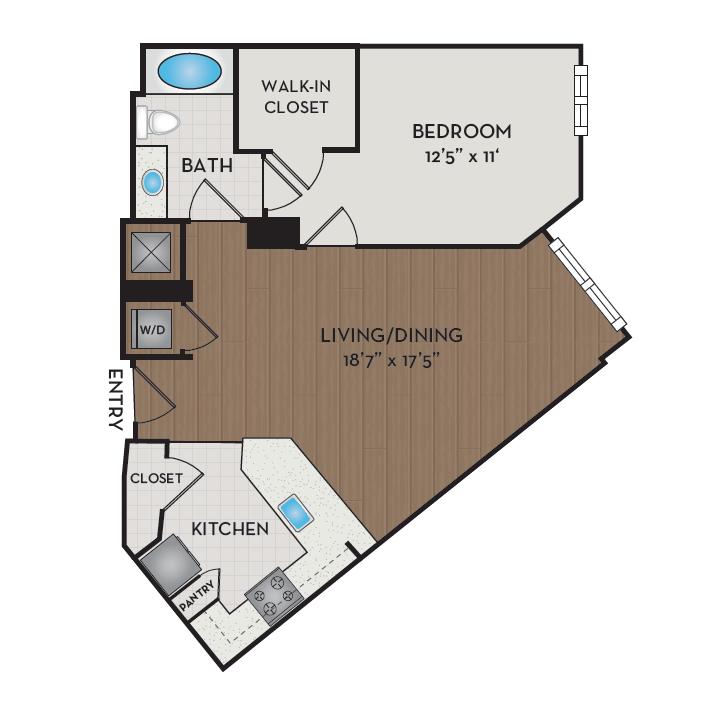 Apartment 422 floorplan