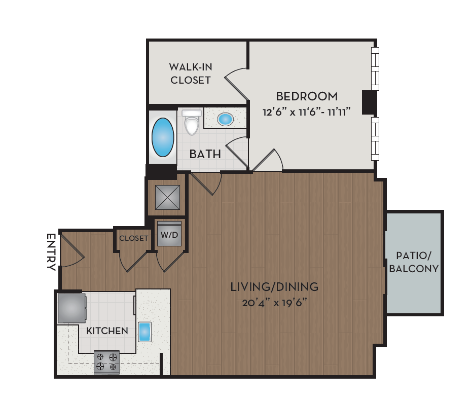 Apartment 304 floorplan