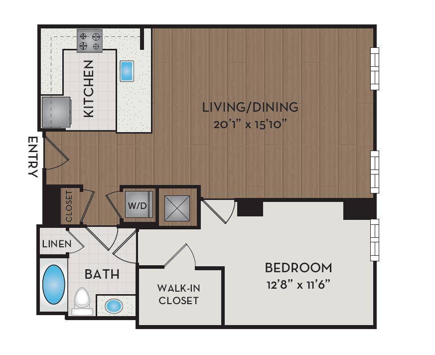 Apartment 606 floorplan