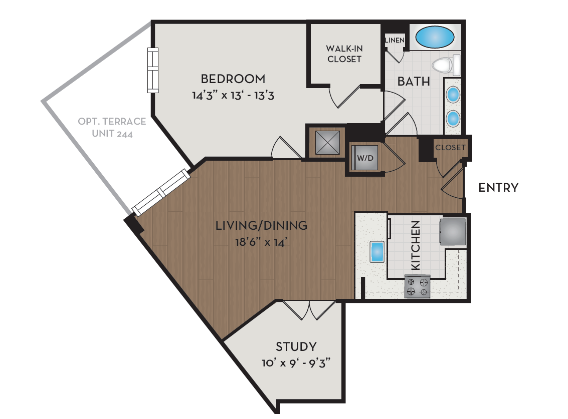 Apartment 344 floorplan