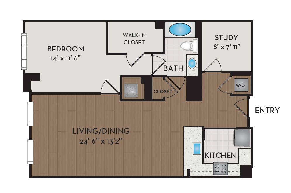 Apartment 425 floorplan