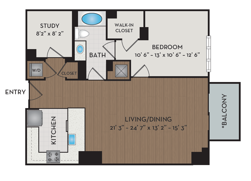 Apartment 230 floorplan